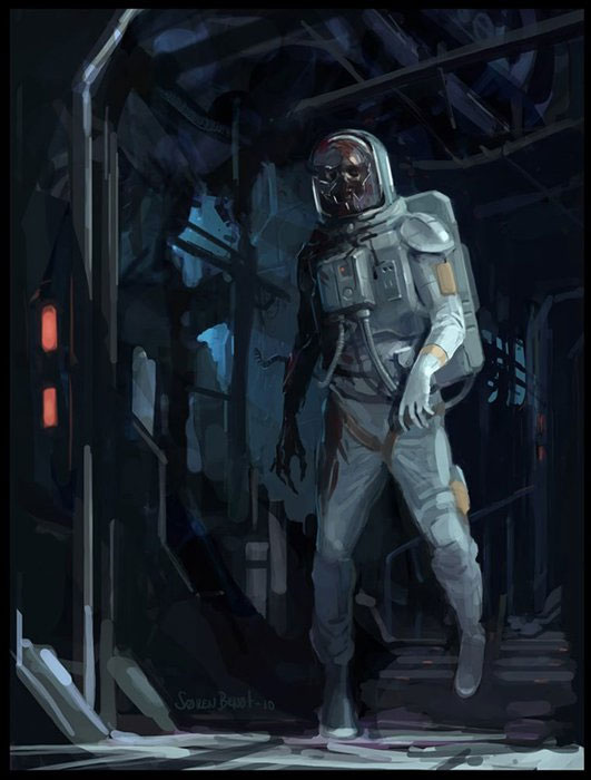 Space Zombie By Soren Bendt Zombie Research Society