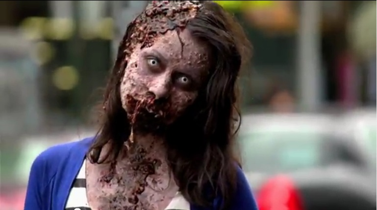 WALKING DEAD ZOMBIES IN NYC!