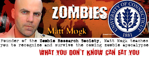 MATT MOGK TALKS ZOMBIES AT UCONN