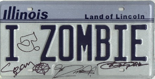 Zombie License Plate 7