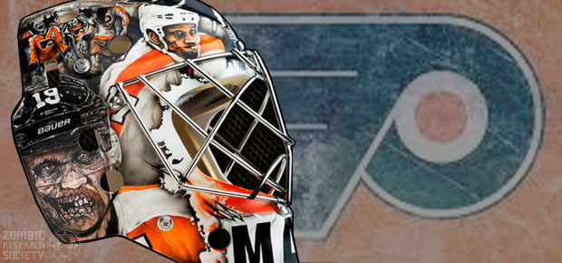 ANOTHER PHILADELPHIA FLYERS ZOMBIE GOALIE MASK
