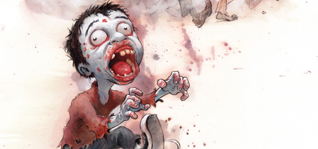 COOKING UP A BRAINY BOOK FOR ZOMBIE KIDS